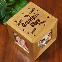 Personalized Stars Photo Cube