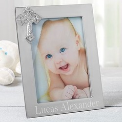 Engraved Silver Baby Picture Frame
