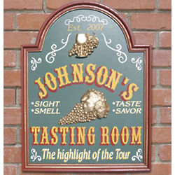 Personalized Wine Tasting Room Sign
