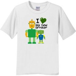 New Brother Robot Kids T-Shirt