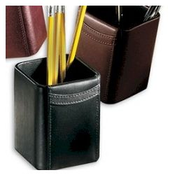 Executive Leather Pencil Cup