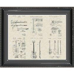 Guitars Framed Patent Art