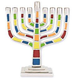 Colorful Aluminum Menorah