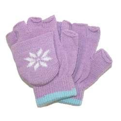 Girls' Snowflake Fingerless Glove and Mitten