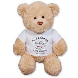 Personalized Wedding Bells Teddy Bear