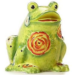 Field of Flowers Frog Garden Statue
