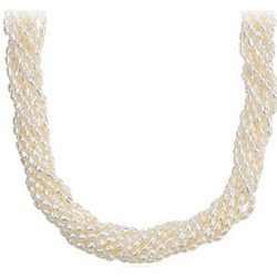 Freshwater Cultured Pearl Toursade Necklace