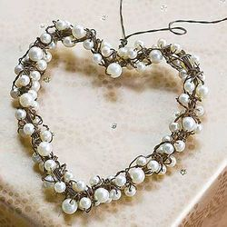 Pearl Heart Ornament