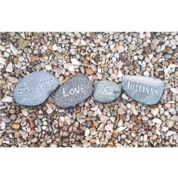 Peace Pebbles Personalized Doormat