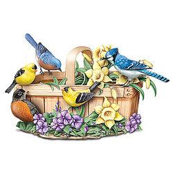 Springtime Serenade Lifelike Singing Bird Sculpture