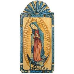 Our Lady of Guadalupe Patron Saint Wood Plaque