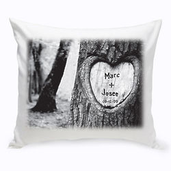 Tree of Love Personalized Throw Pillow