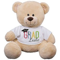 Sherman Bear in Personalized Grad T-Shirt