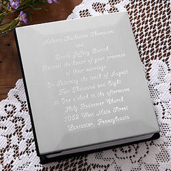Our Wedding Invitation Engraved Photo Album