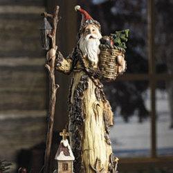 Old World Santa with Walking Stick
