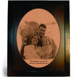 Personalized Photo Framed Pyrograph