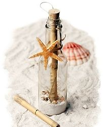 Starfish Wedding Invitation in a Bottle