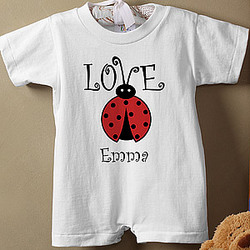 Personalized Little Love Bug Infant T-Romper