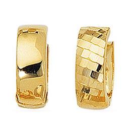 Reversible Snuggie Earrings in 14K Yellow Gold