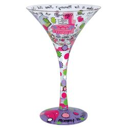 Mommy's Time Out Martini Glass