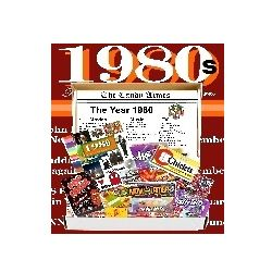 Retro 1980s Jr Candy Gift Box with 1980s Decade Highlights