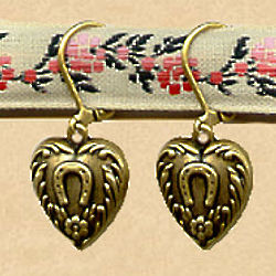 Horseshoe Heart Earrings