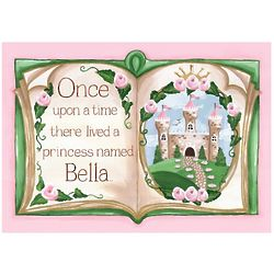 Personalized Upon a Time Princess Wall Hanging