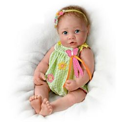 Touch-Activated Butterfly Kisses Lifelike Baby Doll