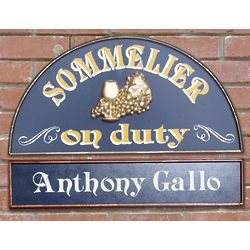 Personalized Sommelier on Duty Sign