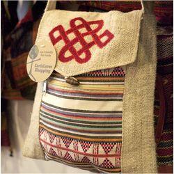 Hemp and Cotton Nepal Style Shoulder Bag