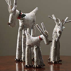 Rustic Deer Figurines