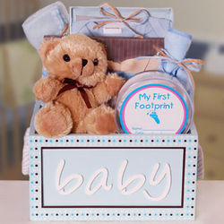Thank Heaven For Little Boys Wooden Gift Box