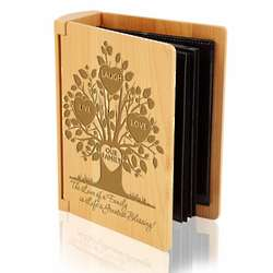 The Life of Our Family Wooden Photo Album