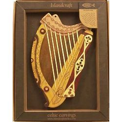 Irish Harp Wooden Wall Plaque