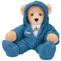 Camp Akeela Blue Hoodie Footie Teddy Bear