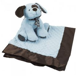Blue Plush Puppy and Blanket Set