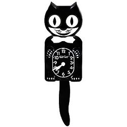 Black Pendulum Kit Cat Clock