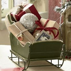 Tabletop Centerpiece Sleigh