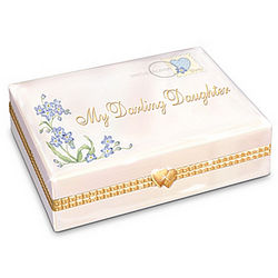 My Darling Daughter Porcelain Music Box