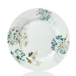 Silk Floral Teal Salad Plate