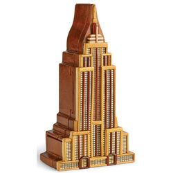 Acacia Wood Empire State Puzzle Box