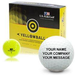 Kid's Yellowball Dozen Personalized Golf Balls
