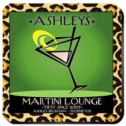 Personalized Martini Cosmo Chic Coasters