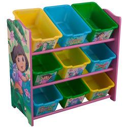 Dora the Explorer 9 Bin Toy Box Organizer