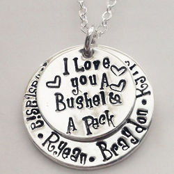 I Love You a Bushel and a Peck Personalized Stacking Necklace