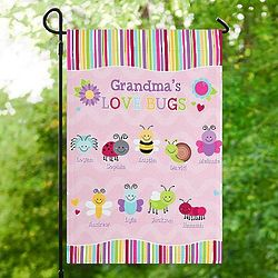 Personalized Love Bugs Garden Flag