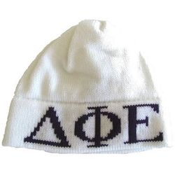 Monogram Greek Letters Child's Knit Hat