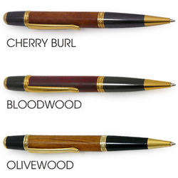 Hand-Turned Natural Wood Ballpoint Twist Pen