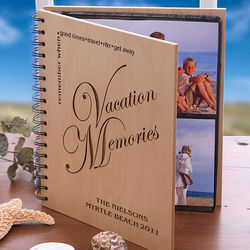 Vacation Memories© Wood Photo Album