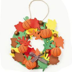 3-D Pumpkin Wreath Craft Kit